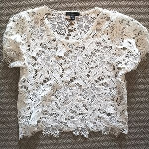 Atmosphere Lace crop top blouse